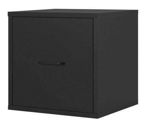 One Drawer Box - Foremost 390106 Modular File Cube Storage System, Black