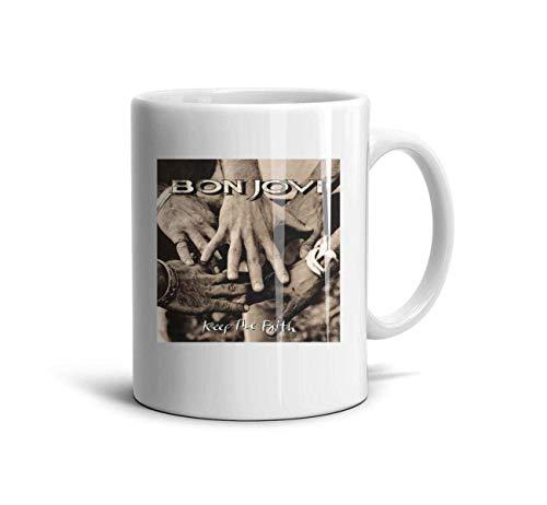 Bon-Jovi-Rock-Band-This-is-Our-House- Classic Coffee Mugs 11oz Ceramic Tea Cups,Bon Jovi Keep,One Size