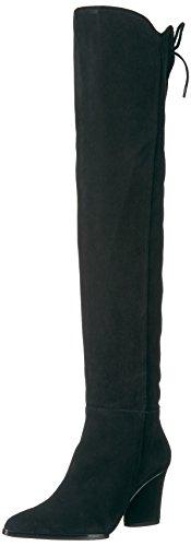Donald J Pliner Women's Leore Fashion Boot, Black Kid Suede, 9.5 M US