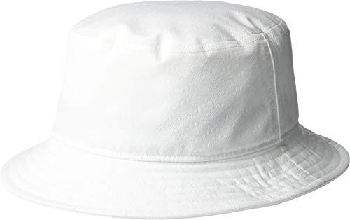 (adidas Men's Originals Emboss Bucket Hat, White/Monogram Print, One Size)