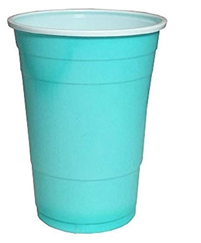 Goodtimes Big Party Pack 50 Count Disposable Plastic Cups, 16-Ounce (Blue-Baby) -