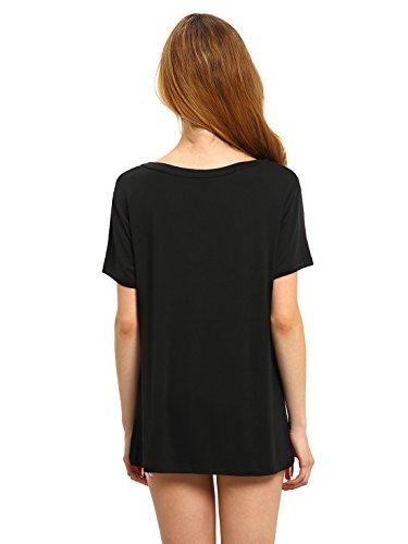 ROMWE-Womens-Summer-Short-Sleeve-T-Shirt-Basic-Deep-V-Neck-Tee