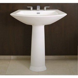 Toto LPT960#03 Soiree Pedestal Lavatory, Bone Bone Soiree Vitreous China Lavatory