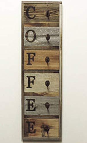 Vertical Reclaimed Barnwood Coffee Mug Rack Wall-Mount Coffee Cup Holder 36.75