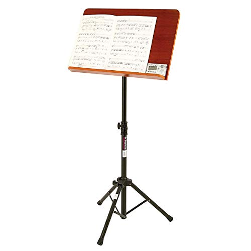 On-Stage SM7312W Conductor Stand with Wide Wooden Bookplate from OnStage