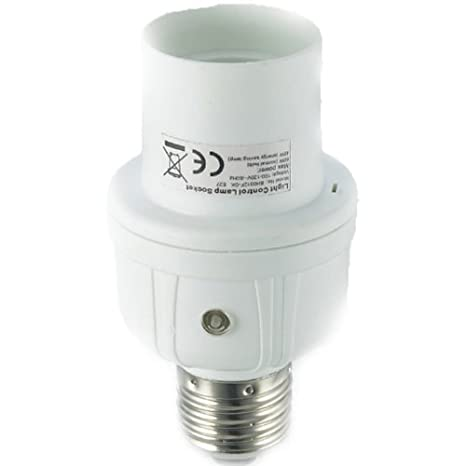 Captec A0312 - Base de bombilla (230 V, 45 W), color blanco