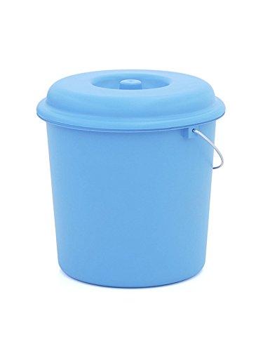 pl/ástico azul 23 l Plastiken Cubo basura con tapa