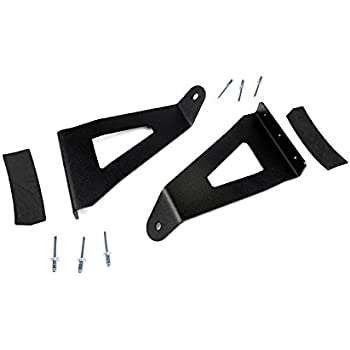 Rough Country - 70518 - 54-inch Curved LED Light Bar Upper Windshield Mounting Brackets (Ford F150) for Ford: 04-14 F150 4WD/2WD