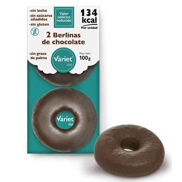 2 BERLINAS DE CHOCOLATE LIGHT VÁRIET. Sin gluten, sin leche, sin grasa de palma. 100 g: Amazon.es: Alimentación y bebidas