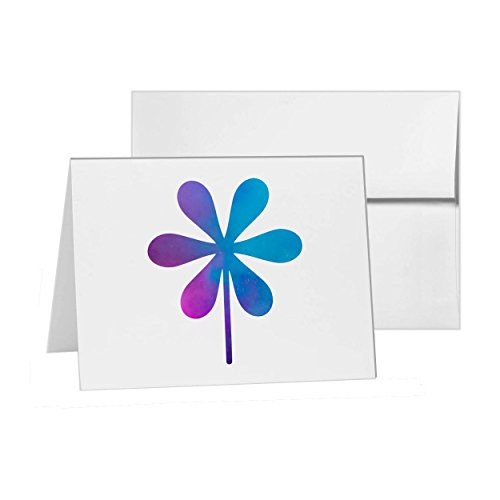 Flower Floral Life Nature Pinwheel, Blank Card Invitation Pack, 15 cards at 4x6, Blank with White Envelopes Style 10167 ()