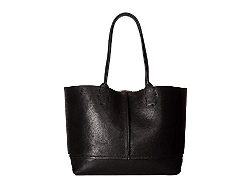 (Frye Women's Lucy Tote Black/Black Polished Full Grain One Size)