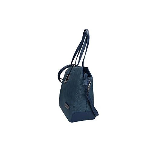 68983b18ee0 Outlet Bolsa mujer hombro con bandolera PIERRE CARDIN azul con abertura con  zip VN1375