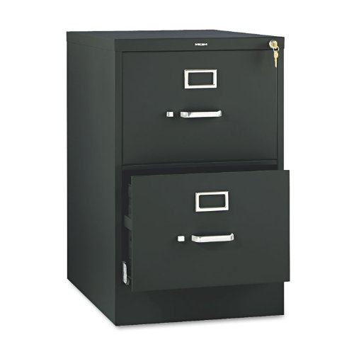 (HON 2-Drawer Filing Cabinet - 510 Series Full-Suspension Legal File Cabinet, 29h by 25d by 18.25w, Black)