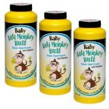 Baby Anti-Monkey Butt Diaper Rash Powder, 6oz. Bottle – 3 Pack