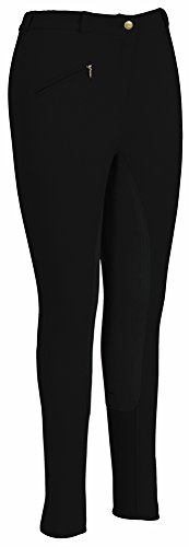 (TuffRider Women's Ribb Full Seat Breeches (Long), Black, 24 )