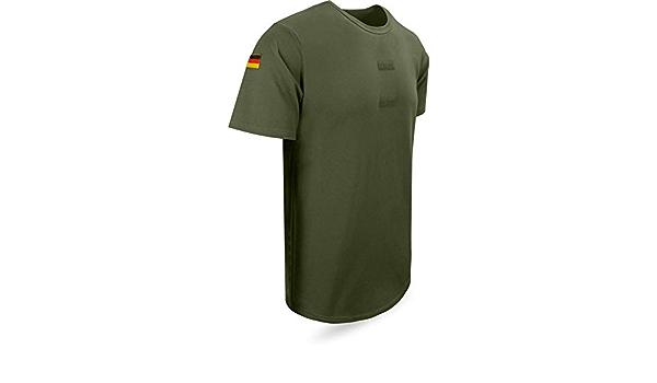 Normani Camiseta del Ejército Alemán, Caqui con Insignias