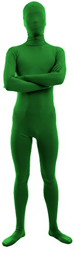 Marvoll Unisex Lycra Spandex Full Body Zentai Suit for Kids and Adults (Medium, Green) (Superman Adult Onesie)