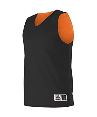 08b6fd70e52a Alleson Reversible Mesh Basketball Jersey - Adult - Black Orange - 2X-Large