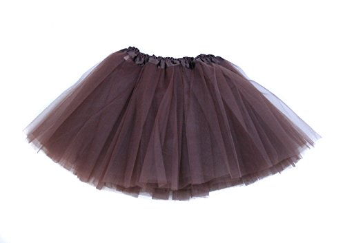 Girl & Teen Tulle Tutu Skirt for 8-16 years Chocolate (Chocolate Tutu)