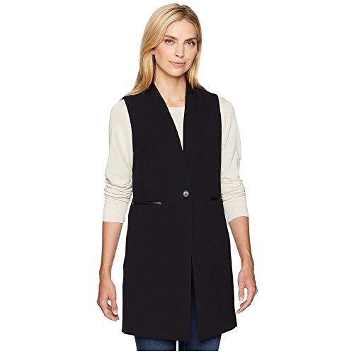重くする干渉するがんばり続ける(カルバンクライン) Calvin Klein レディース トップス ベスト?ジレ Lux One-Button Vest with Faux Leather [並行輸入品]