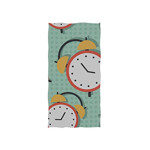 Pool Towels Soft Compact Alarm Clock Weak Up Tool Towel Personalized Fingertip Towel Beach Gym Washcloth Yoga Guest Girls for Car Towels 30 X 15 Inch ()