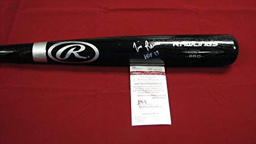 Tim Raines Autographed Signed Rawlings Black Pro Model Bat W/Hof 17 - Jsa Wp383284