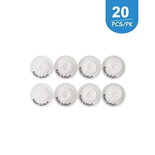 Syringe Filters Nylon Membrane 13mm Diameter 0.45 um Pore Size for Laboratory by Allpure Biotechnology (Nylon, Pack of 20)