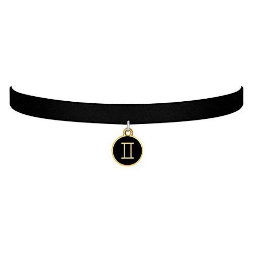 black-velvet-choker-necklace-gothic-with-gold-gemini-pendant-3-8-inch-for-girls-women-gold-gemini