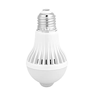 E27 Motion Sensor Light Bulb, Smart Infrared Sensor PIR LED Bulbs, Auto On/Off Night Light for Outdoor Indoor Stairs Garage Corridor(9W)