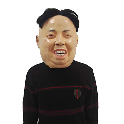 BBBL Kim Jong Un Mask - Celebrity President Famous People Human Mask White