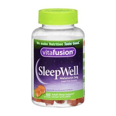 Vitafusion SleepWell Gummies White Tea with Passion Fruit 60 Each (Pack of 12)
