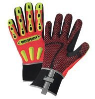 West Chester X-Large Orange R2 Safety Rigger Full Finger Synthetic Leather An... by West Chester Marketing