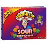 WarHeads Assorted Sour Chewy Cubes, 4 oz (Pack of 12)