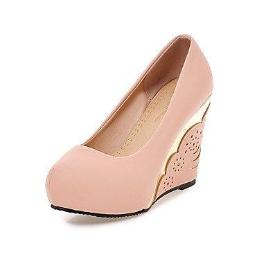 partido de oficina para de PU de Zapatos y Primavera Otoño azul tacón noche de de del de vestido cuña las y Verano la de mujeres Talones Pink Club Rosa Blanco flor carrera la Invierno del la 7qAawO4O