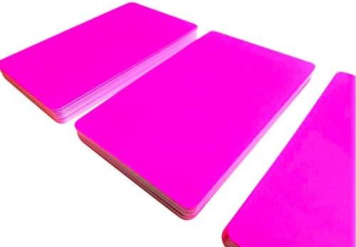 Premium Plastikkarten | PVC Karten PINK LEUCHTEND | 1-100 Stück | Blanko Rohlinge | NEU! (5)