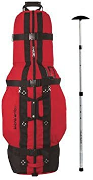 Club Glove Last Bag Golf Travel Cover with Free Stiff Arm Red