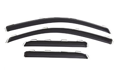 Auto Ventshade 194528 In-Channel Ventvisor Window Deflector for Chevy/GMC Double Cabs, 4 Piece
