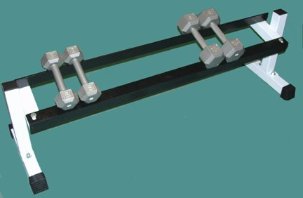 One Tier Dumbell Rack - 36'' Long by TDS