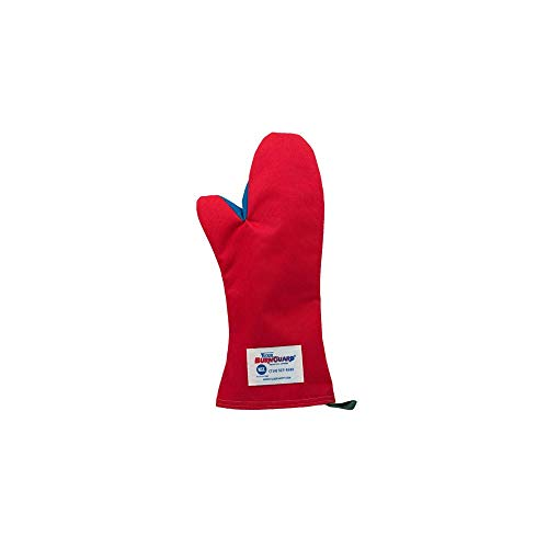 Tucker Safety 56189 Products Tucker BurnGuard Protective Apparel, Conventional Style Oven Mitt, Poly-Cotton, Removable Liner, Each, Medium, 18