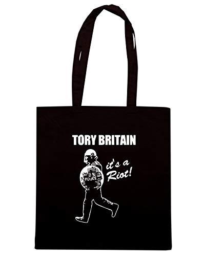 A TORY Nera TCO0068 Shopper Speed Shirt RIOT S BRITAIN IT Borsa TnpPnBxH