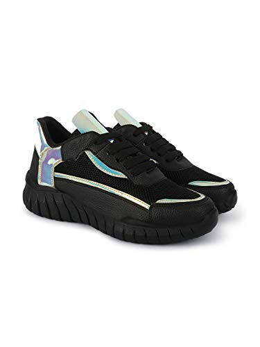 ZAPATOZ Women's Casual PU Leather Sneaker Shoes