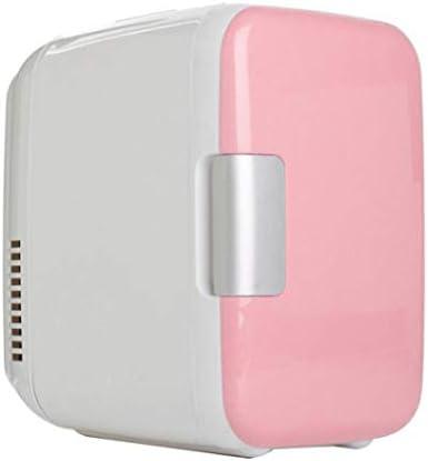 カー用品冷蔵庫ポータブル,ミュート軽量省エネデュアルユース冷却ボックスミニ冷蔵庫-のためにベッドルームバー車載旅行事務所寮アウトドアキャンプ,Pink