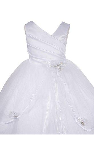 AMJ Dresses Inc Girls White Flower Girl Communion Dress Sizes 2 to 16