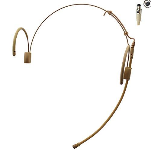 Pro Earhook Headset Headworn Omnidirectional Microphone JK MIC-J 060 Compatible with Shure Wireless Transmitter - Mini XLR TA4F ()