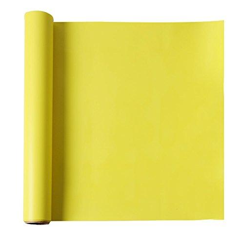 Yellow Iron on Roll HTV Heat Transfer Vinyl for T-Shirt 15x3, Kenteer