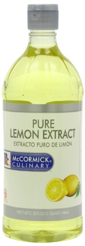 McCormick Culinary Pure Lemon Extract, 1 quart. (Culinary Extracts compare prices)