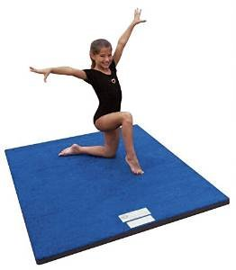 "4'x6'x2"" Dollamur Flexi Roll Carpeted Cheer/Gymnastics Mat Blue"
