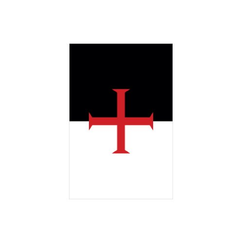 4 Knights Templar Flag - Color Sticker - Decal - Die Cut