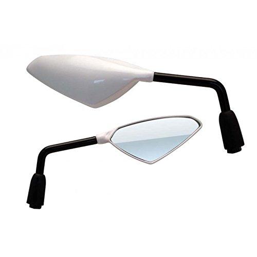 la paire R/étroviseurs moto Wind M10//125 Blanc Universels BIHR