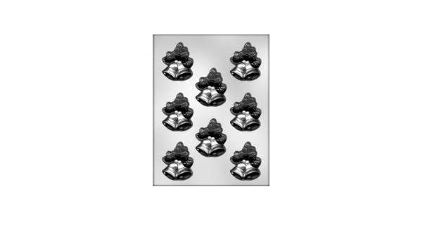 CK Products 2-1//2-Inch Bells with Mistletoe Chocolate Mold